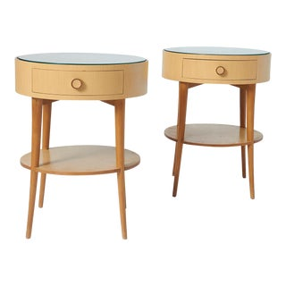 Pair of Joaquim Tenreiro Side Tables For Sale