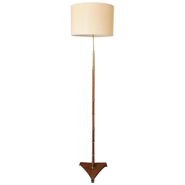 20th Century French Floor Lamp by Maison Lunel, 1950s For Sale