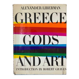 Vintage 1968 Greece, Gods and Art Book Alexander Liberman For Sale