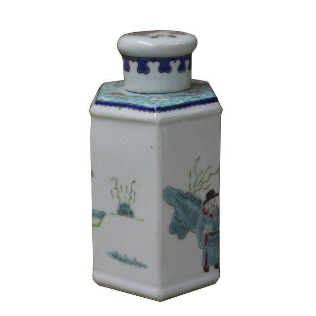 Chinese Family Harmony Porcelain Tea Jar - Image 4 of 5