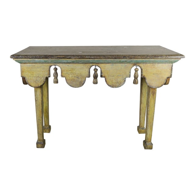 Painted Italian Console W/ Tassels For Sale