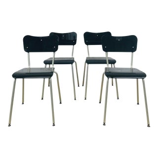 1990s Vintage Tim Power for Zeritalia Glass Dining Chairs - Set of 4 For Sale