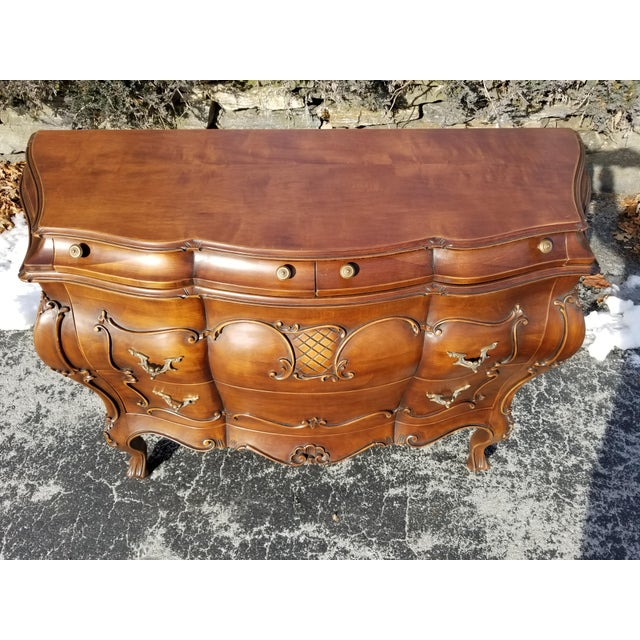 1990s Italian Crafts Credenza Server For Sale - Image 9 of 11