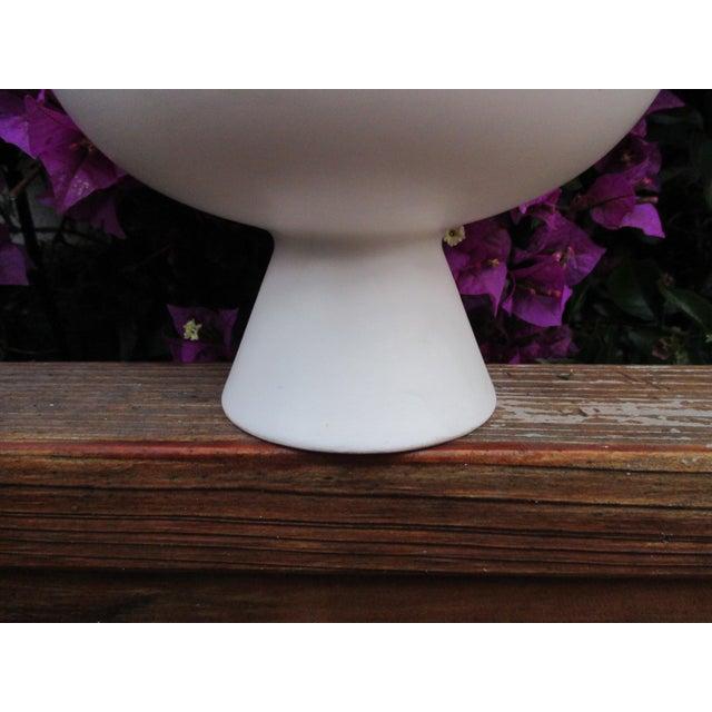 Modernist Matte Ceramic Planter - Image 3 of 8