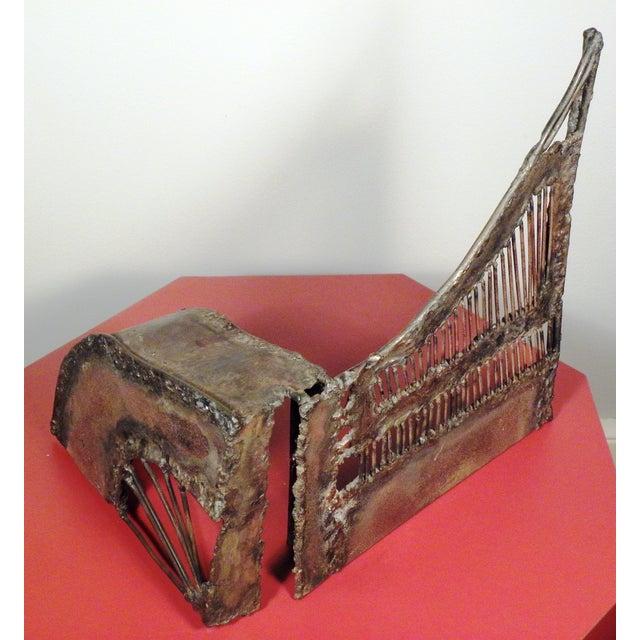 Mid-Century Modern Brutalist Metal Sculpture - Image 4 of 6