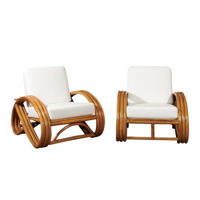 Pair of 1950s Restored Pretzel Loungers For Sale