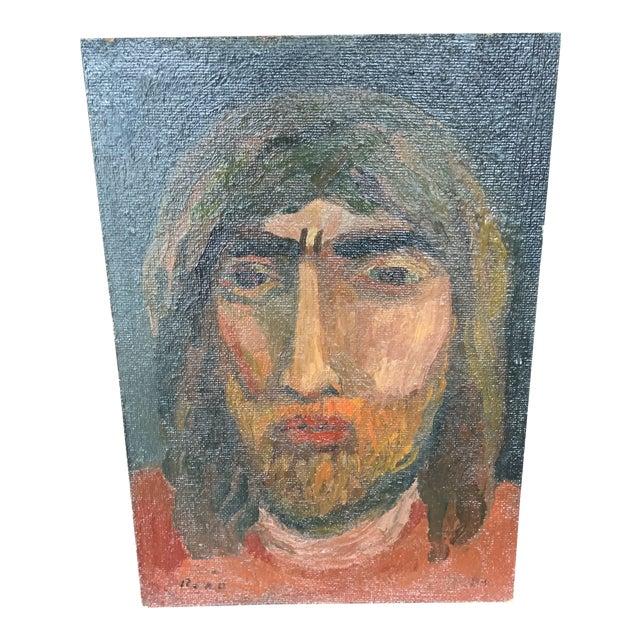 Self Portrait Joe Reno Painting For Sale