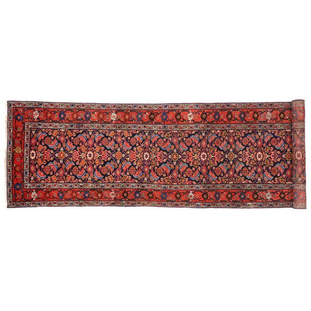 Textile Antique Persian Malayer Runner with Modern Style For Sale - Image 7 of 9