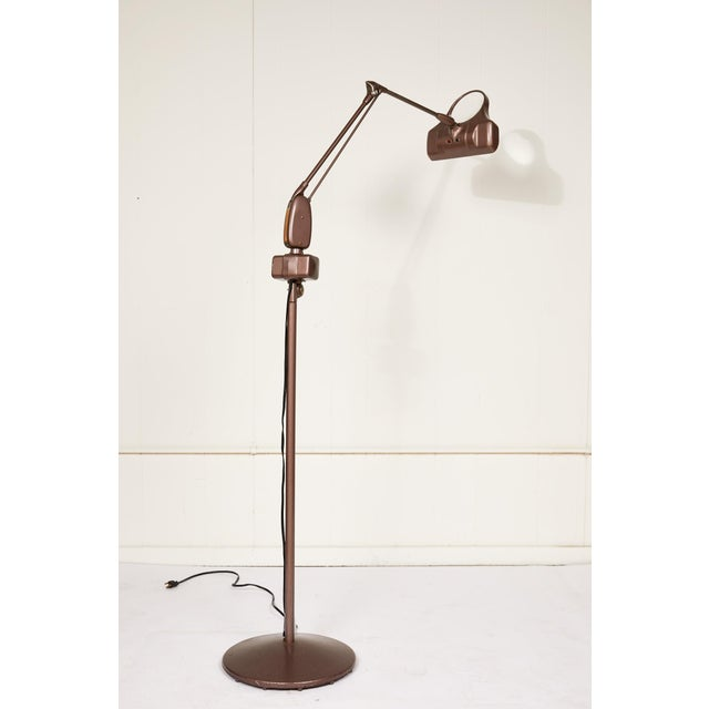 Industrial Articulating Arm Floor Lamp With Magnifier by Dazor For Sale - Image 12 of 12