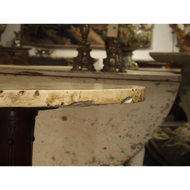 Antique Circular Genoese Carved Wood and Marble Table, Circa 1820 For Sale - Image 4 of 13