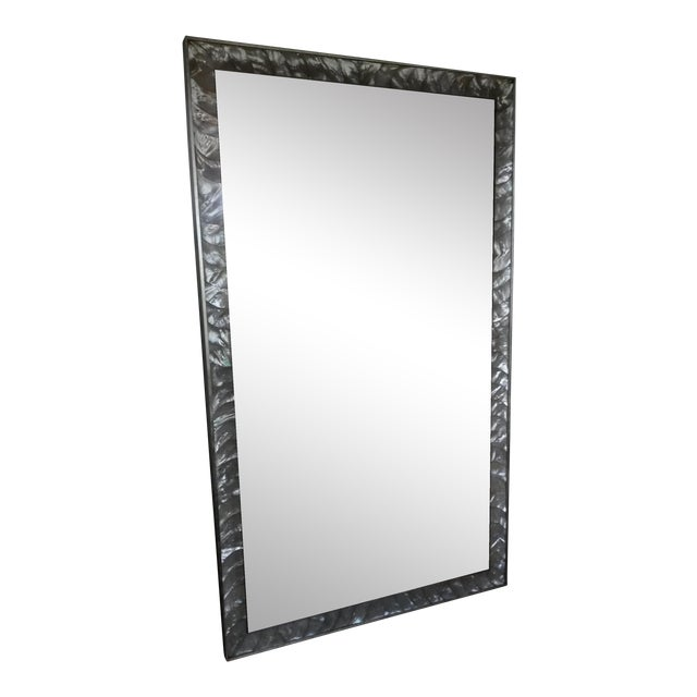 Antique Mother of Pearl Framed Mirror For Sale