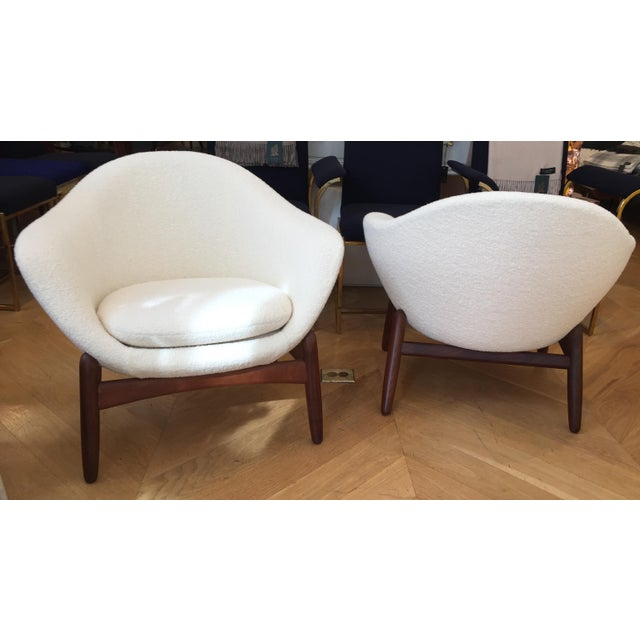 "Mid-Century Ib Kofod-Larsen ""Pot"" Chairs- a Pair For Sale In San Francisco - Image 6 of 10"