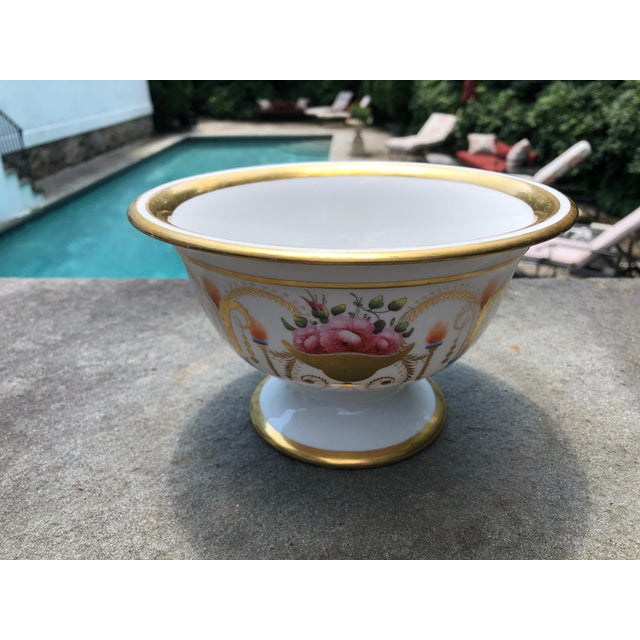 19th English Traditional Davenport Gilt Decorated Billingsley Roses Bowl For Sale In New York - Image 6 of 12