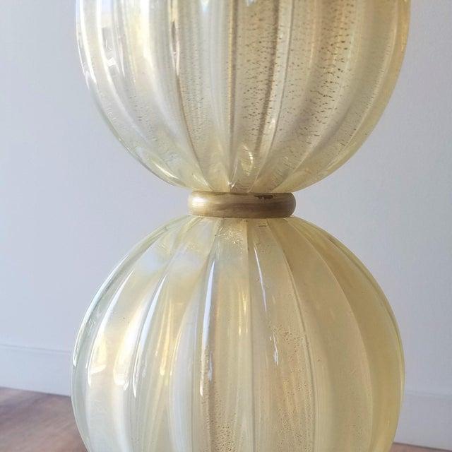 Mid 20th Century Mid 20th Century Italian Murano Aventurina Glass Table Lamp For Sale - Image 5 of 13
