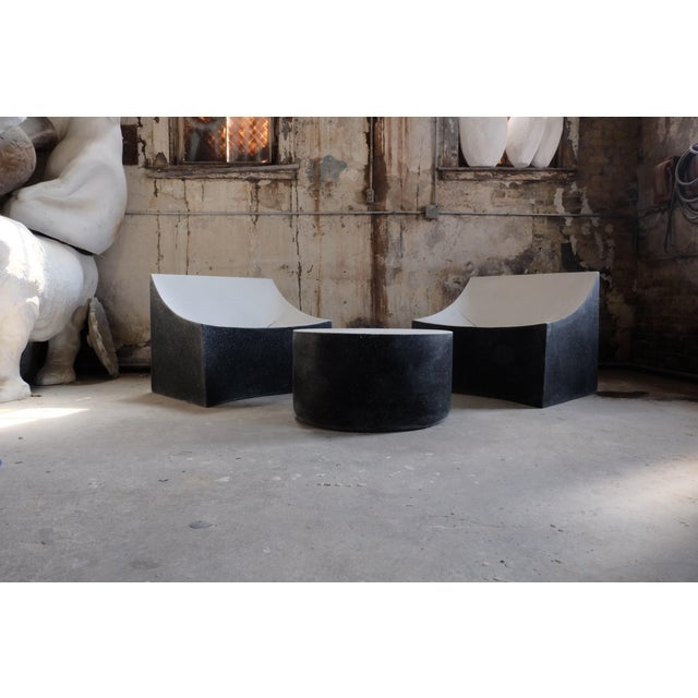 Not Yet Made - Made To Order Cast Resin 'Millstone' Coffee Table, Bw Finish by Zachary A. Design For Sale - Image 5 of 7