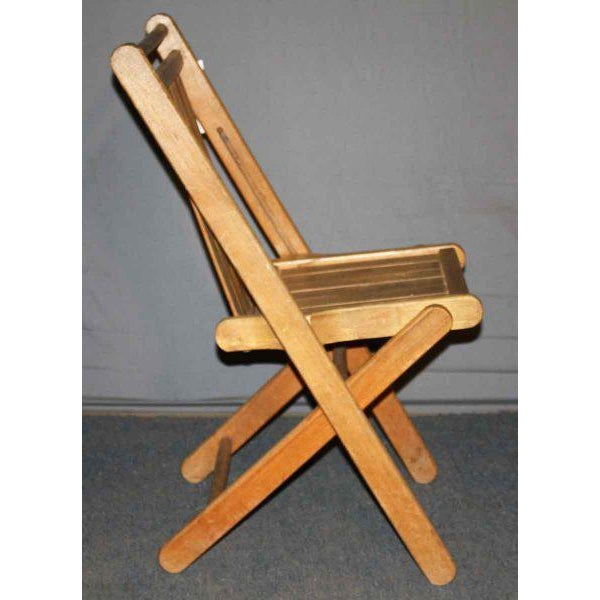 Vintage Maple Folding Chair - Image 2 of 4