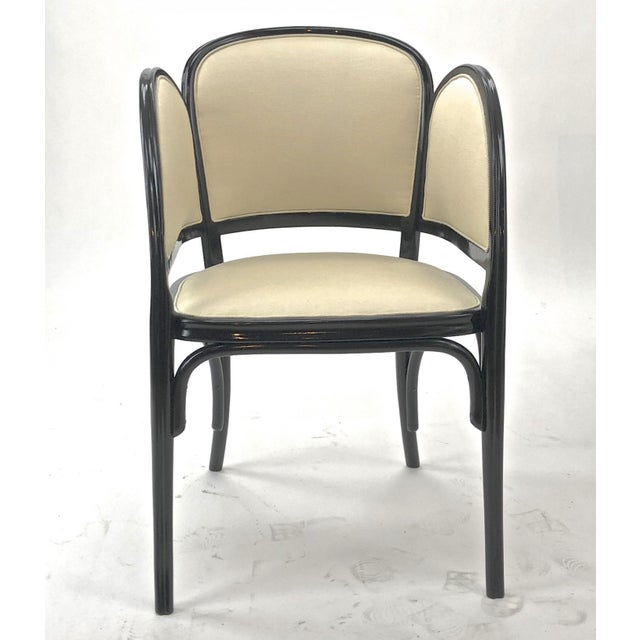 Thonet Maison Thonet Rare Set of Black Lacquered Bent Wood Five Pieces Set For Sale - Image 4 of 9