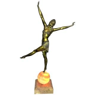 Art Deco Chiparus Luminaire Dimitre Chiparus 'Dancer of Palmyra' For Sale