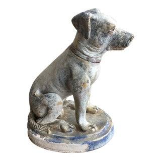 Vintage Mid Century Dog Statue For Sale
