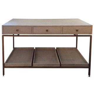 Contemporary Console Table With Drawers and Trays For Sale
