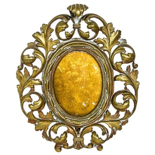19th Century English Gilt Bronze Rococo Frame For Sale