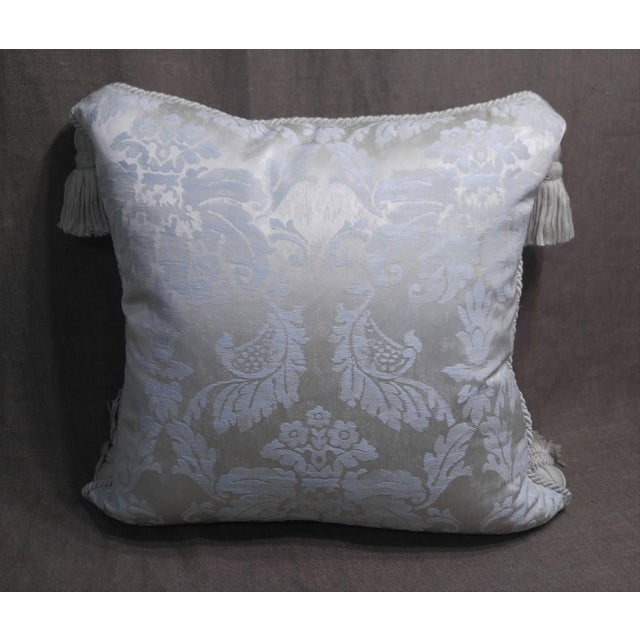 Anichini Silk Damask Throw Pillow For Sale - Image 4 of 5