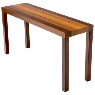 Striped Rosewood Console Table Attributed to Milo Baughman For Sale