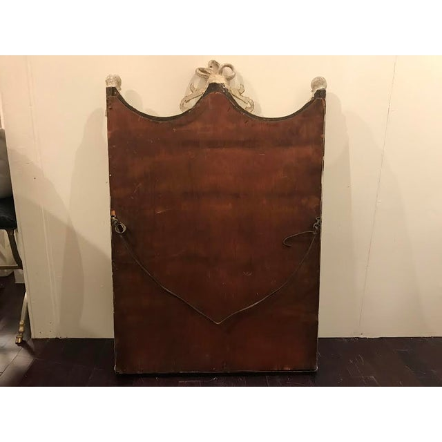 19th Century French Carved Swag and Tassel Mirror For Sale In Houston - Image 6 of 7