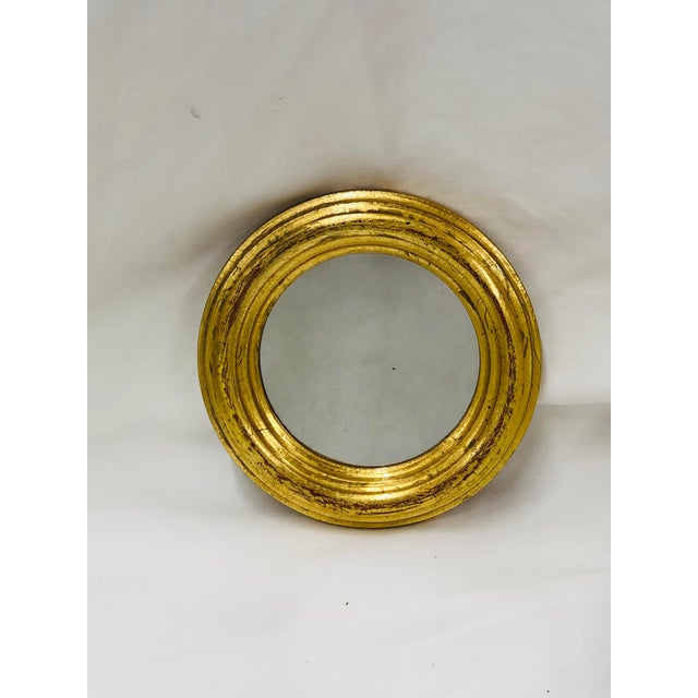 1970s 1970s Round Florentine Wall Mirror For Sale - Image 5 of 5