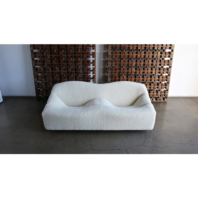 Pierre Paulin ABCD Settee Sofa for Artifort circa 1970. This piece has been expertly restored in Alpaca Boucle. The seat...