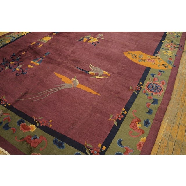 """Art Deco Antique Chinese Art Deco Rugs 9'2"""" X 11'8"""" For Sale - Image 3 of 11"""