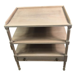 Antique Faux Bamboo Three Shelf Side Table