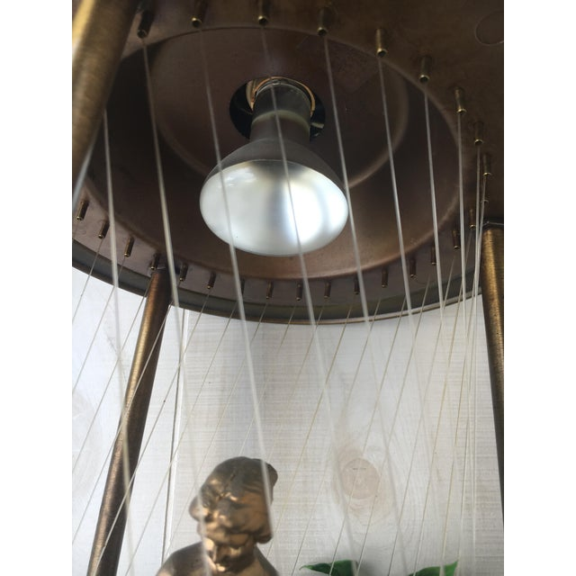 Vintage Golden Woman or Goddess Rain Lamp For Sale - Image 11 of 13