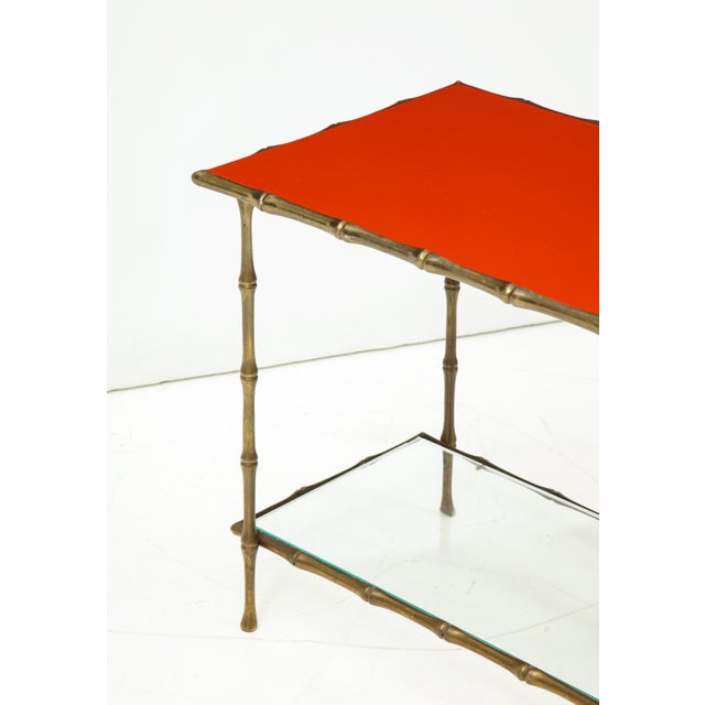 Solid Bronze Faux Bamboo Side Table by Maison Baguès, France, 1960s For Sale - Image 9 of 10