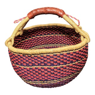 Handwoven African Bolga Basket For Sale