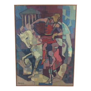 French Cubist Painting of St. Martin by Malaval
