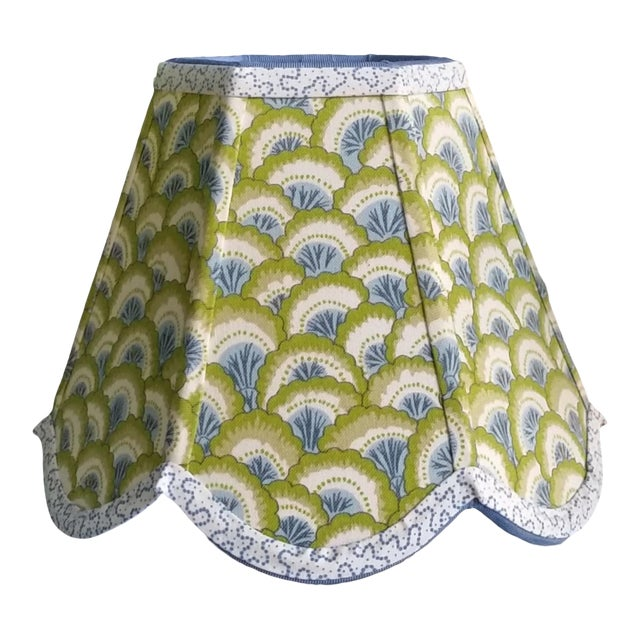 Lampshade Clip on Brunschwig Fils Fabric For Sale