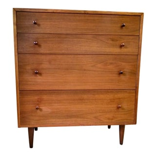 Glenn of California Mid-Century Modern 4 Drawer Walnut Dresser For Sale