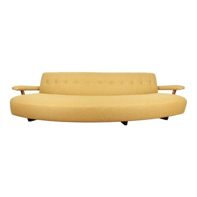 Mid Century Yellow Sofa