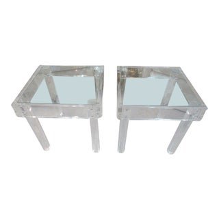 Modern Lucite Side Tables - a Pair