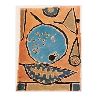 """1955 Paul Klee, First Edition Lithograph """"Coelin Fruit"""" For Sale"""