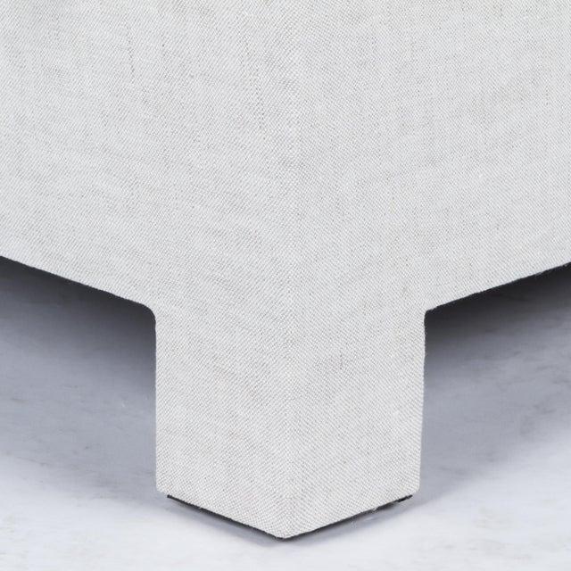 Linen Casa Cosima Baldwin Skirted Slipper Chair in Oatmeal Linen For Sale - Image 7 of 8