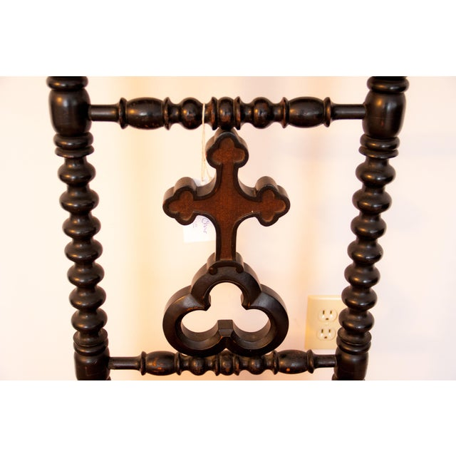 Religious 19th Century French Napoleon III Second Empire Prie-Dieu Prayer Chair For Sale - Image 3 of 9