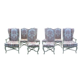 Late 20th Century Vintage Fortuny Style Dining Chairs - Set of 8