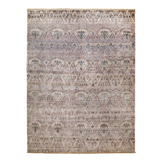Hand Knotted Bamboo Silk Indian Rug - 9' x 12' For Sale