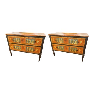 19th Century French Painted Commodes - a Pair For Sale