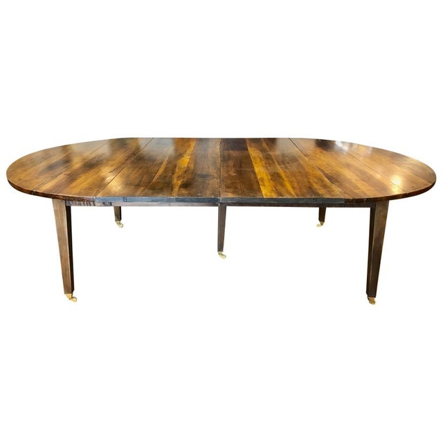 19th Century Louis XVI Style French Provincial Extending Walnut Dining Table For Sale - Image 9 of 9