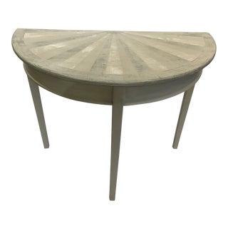 Contemporary English Demi-Lune Table For Sale