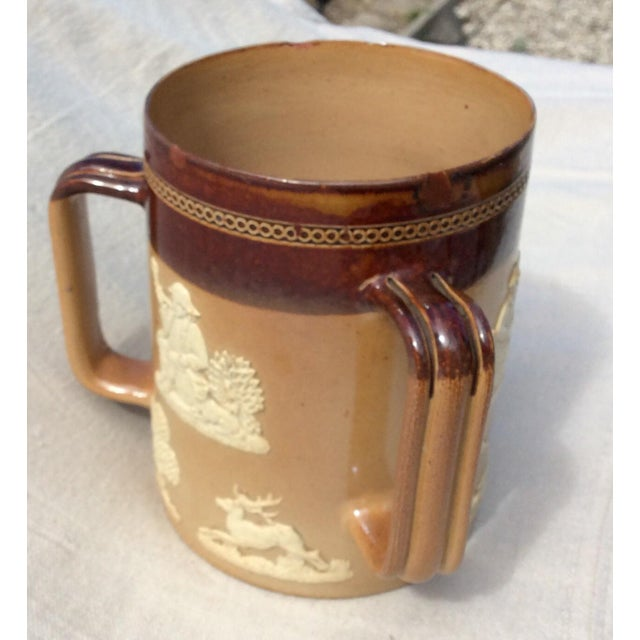 Ceramic Antique Royal Doulton Tankard For Sale - Image 7 of 7