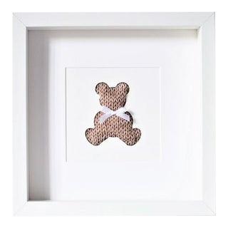 Teddy Bear Textile Art For Sale